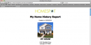home history report for homespot