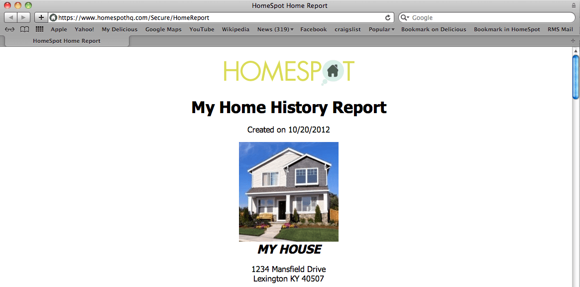 HomeSpot Feature Highlight: The Home History Report