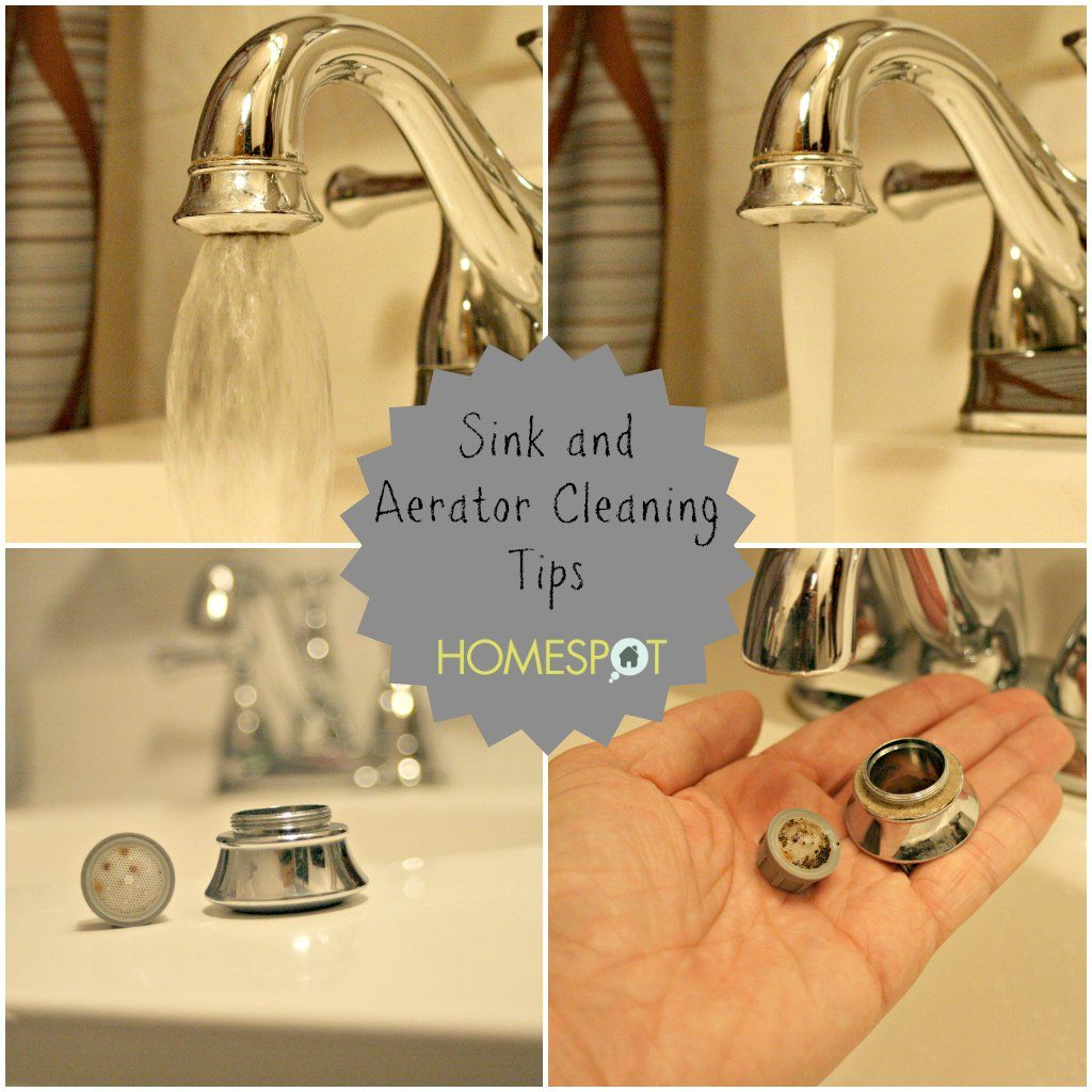 Sink and faucet aerator maintenance cleaning checklist