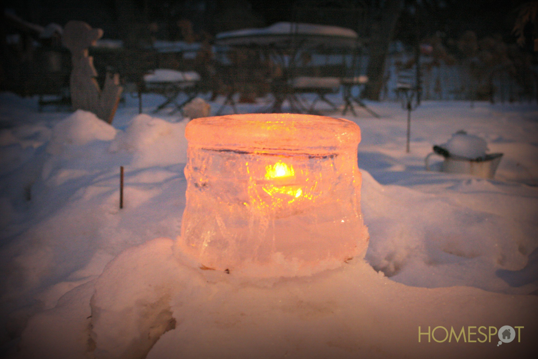 How to Make Ice Candle Holders