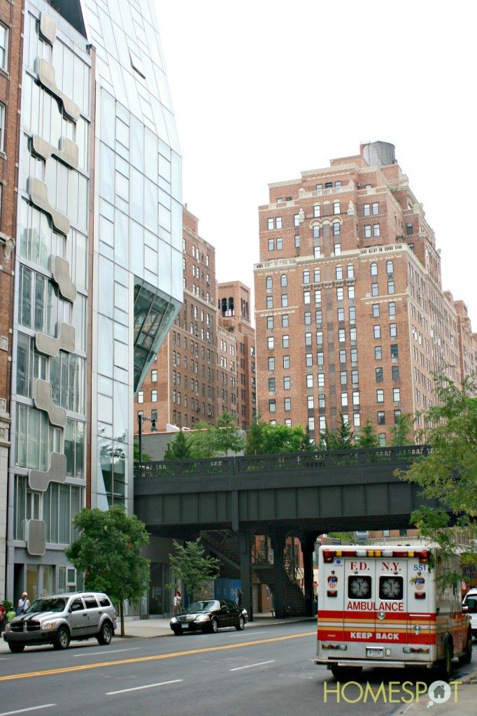 street view of the high line park