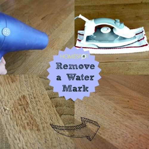 How to remove water marks from wood