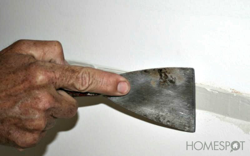 Fixing a dent in drywall