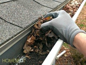 Keep the gutters clear of debris to allow water to flow freely