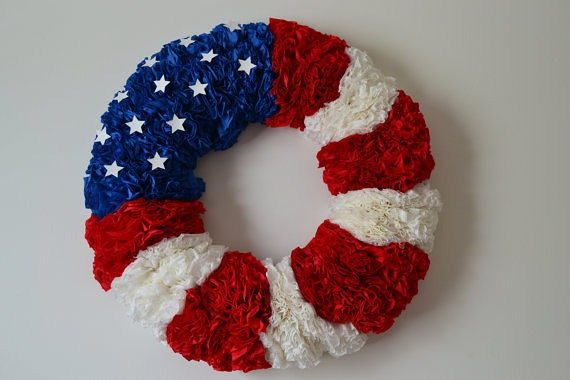 Napkin wreath for the 4th of July