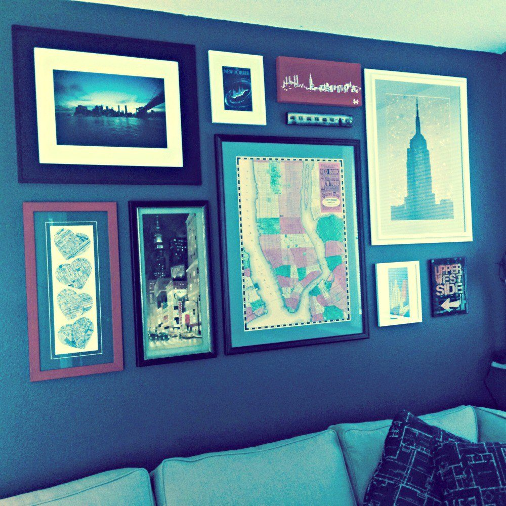 How to hang a group of prints together