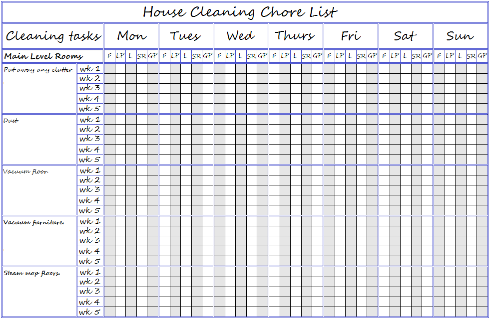 picture about Chores List Printable named Chore Record Printables