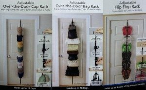 Over the Door Cap Purse and Sandal Storage