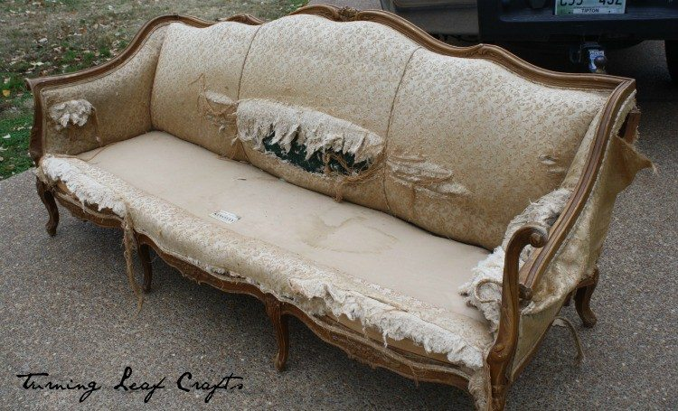 trashed couch