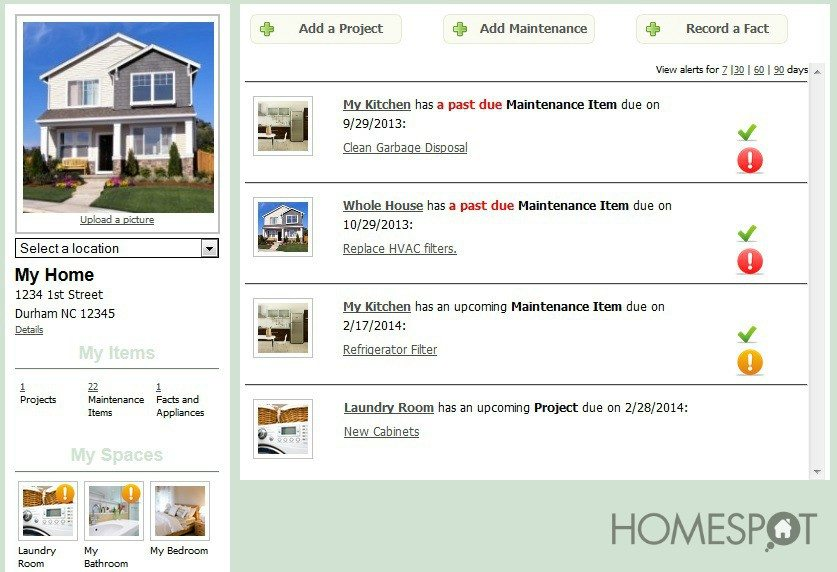 @HomeSpotHQ - helping homeowners manager maintenance, projects, paint colors, and more -  for free!