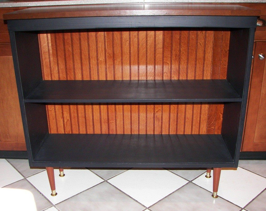Mid-Century Modern Bookcase Make Over