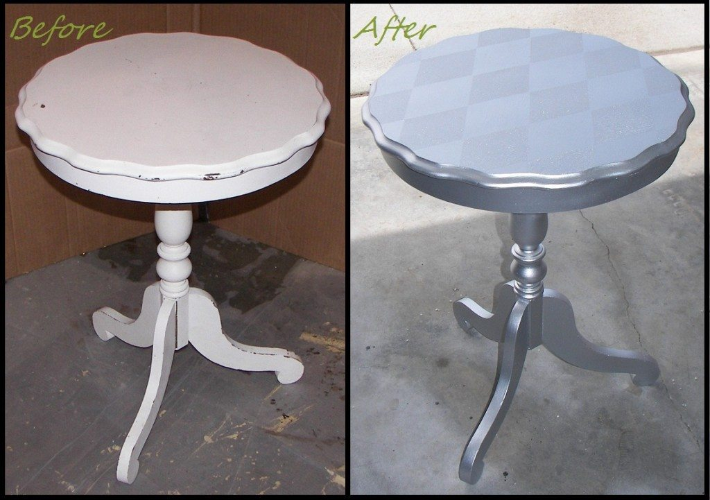 Pie Crust Table Before and After