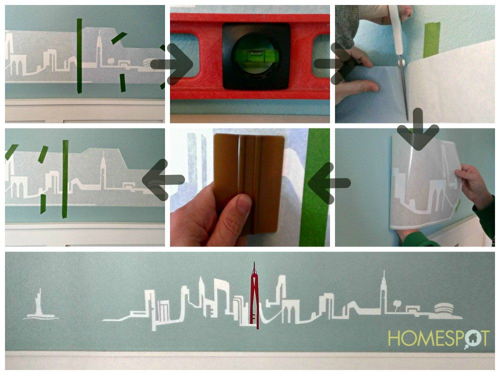 Easy steps for applying a wall decal