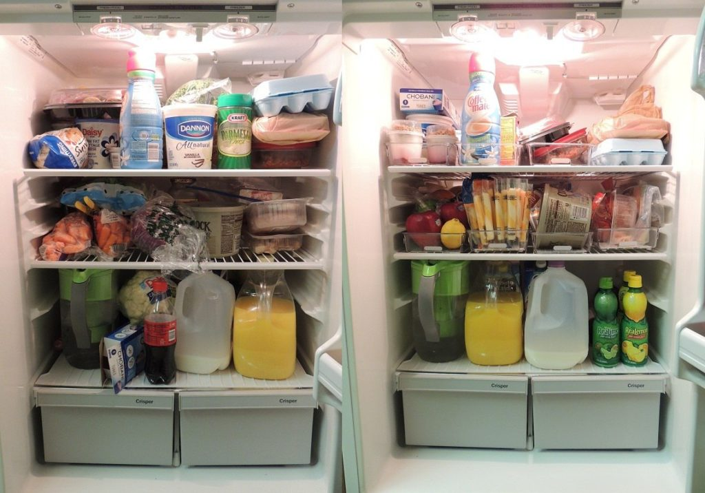 Refrigerator before-after