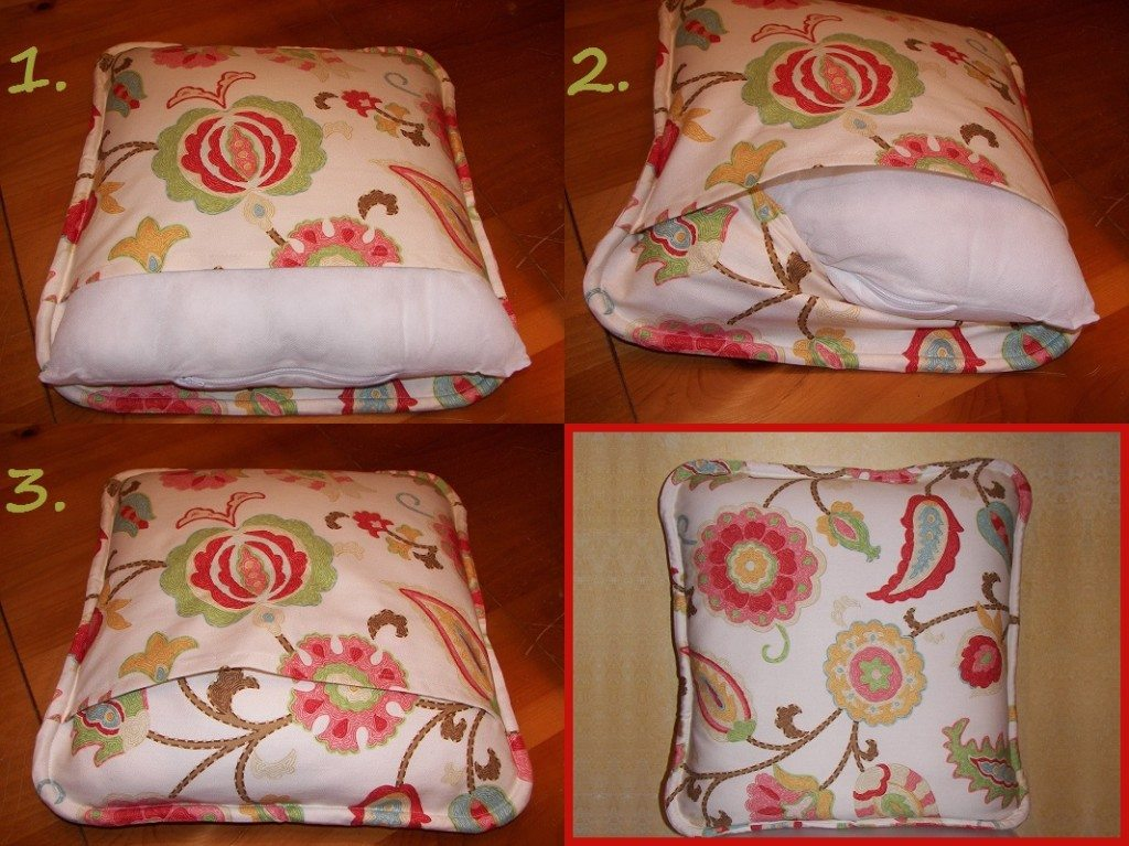 DIY tutorial on how to make self welted pillow covers.