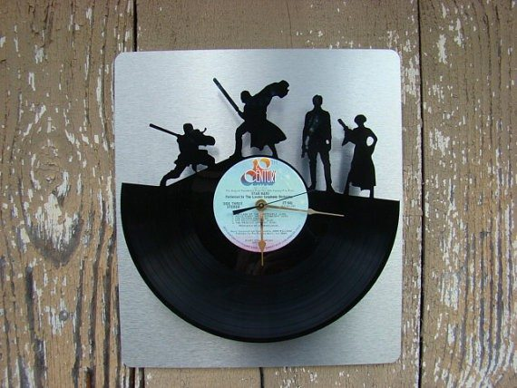 Old record upcycled into a Star Wars Clock | Star Wars Decor for the Home