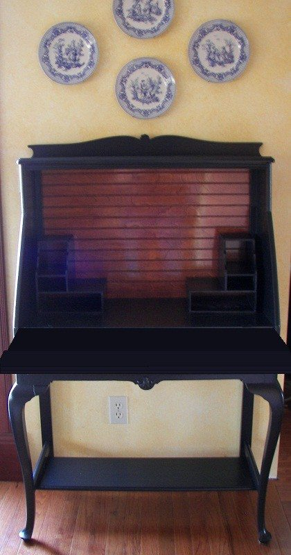 How-to Turn a Secretary Writing Desk into a Computer Desk