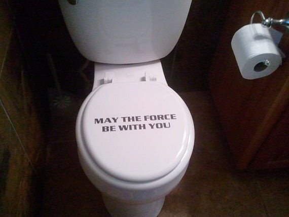 May the flush be with you! #StarWars