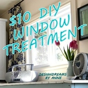 $10 no sew window treatment