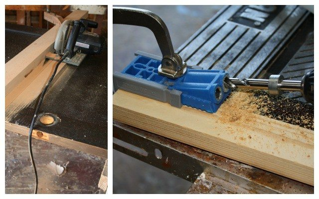 door table - drilling and cutting