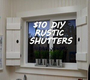 $10 DIY rustic shutters tutorial