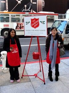 Donate your spare change to the Salvation Army
