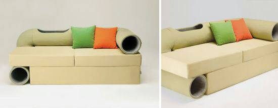 cat tunnel couch