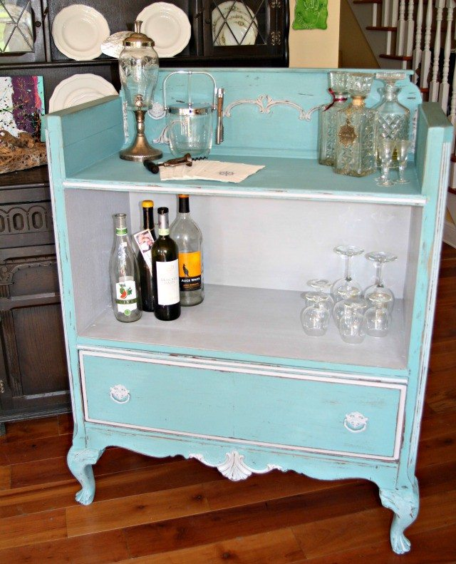 Upcycled Dresser Bar