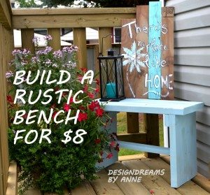 Build a rustic bench for only $8