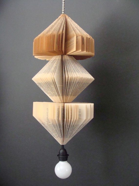 Upcycled books light