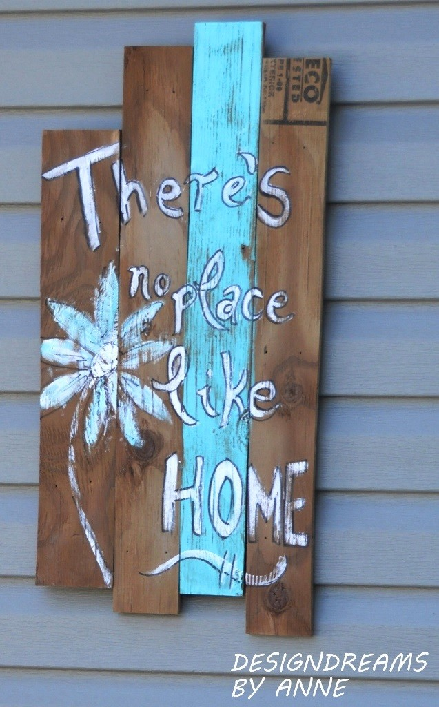 Rustic Welcome Home Sign