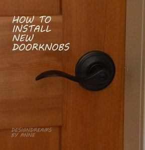 How to install new doorknobs