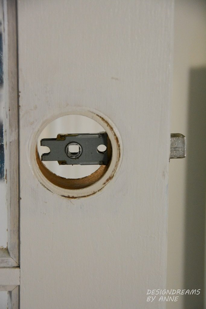 pop out the old lock assembly