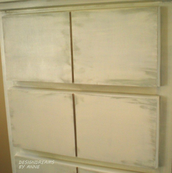 Adding faux drawer fronts CLOSE UP