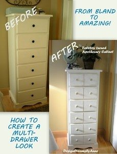 How to create a multi-drawer look for a dresser