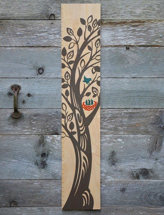 Painted tree growth chart