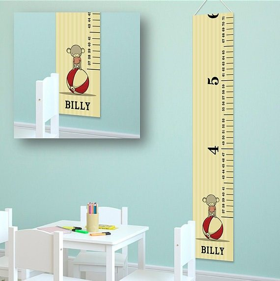 Personalized ruler growth chart