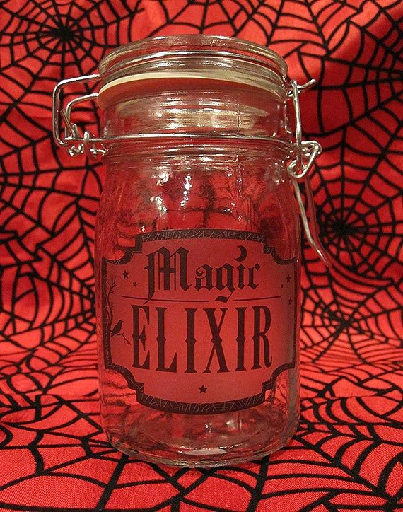 Magic Elixir Glass Apothecary Jar