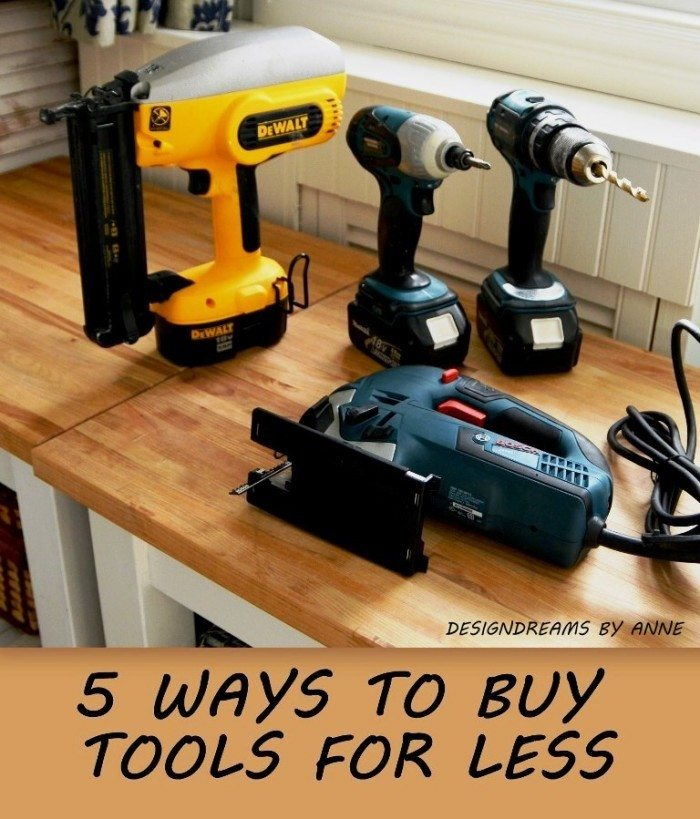 5 WAYS TO BUY TOOLS FOR LESS