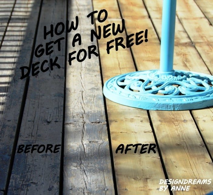 Improve the look of your deck for free