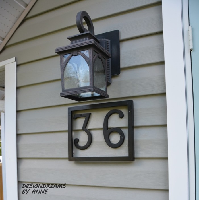 Diy framed address numbers homespot hq blog for House number frames