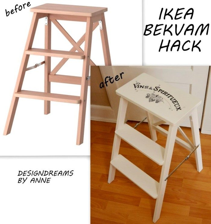 Ikea Bekvam Hack - before & after