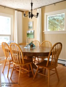 pedestal table with Windsor Chairs